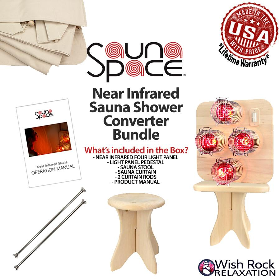 Sauna - SaunaSpace Near Infrared Sauna Shower Converter Bundle