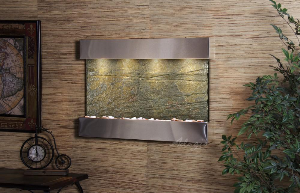 Adagio Reflection Creek Wall Water Fountain - Wish Rock Relaxation