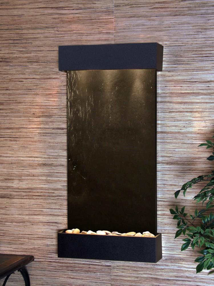Adagio Whispering Creek Wall Water Fountain - Wish Rock Relaxation