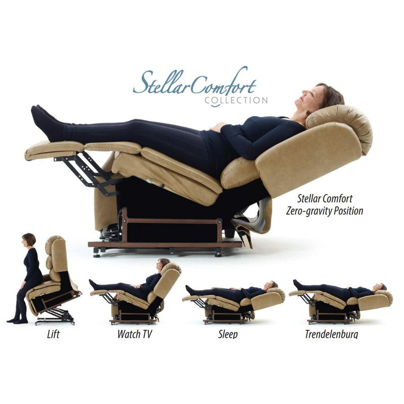 Zero Gravity Lift Recliner - UltraComfort UC556-M Medium/Large Size (375#) StellarComfort Zero Gravity Lift Chair