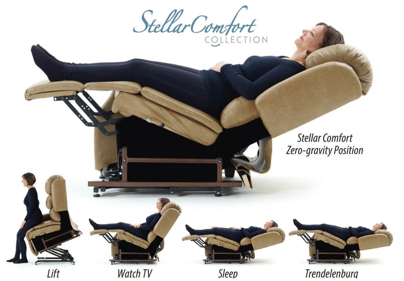Zero Gravity Lift Recliner - UltraComfort UC794 Medium (375#) StellarComfort Zero Gravity Lift Chair