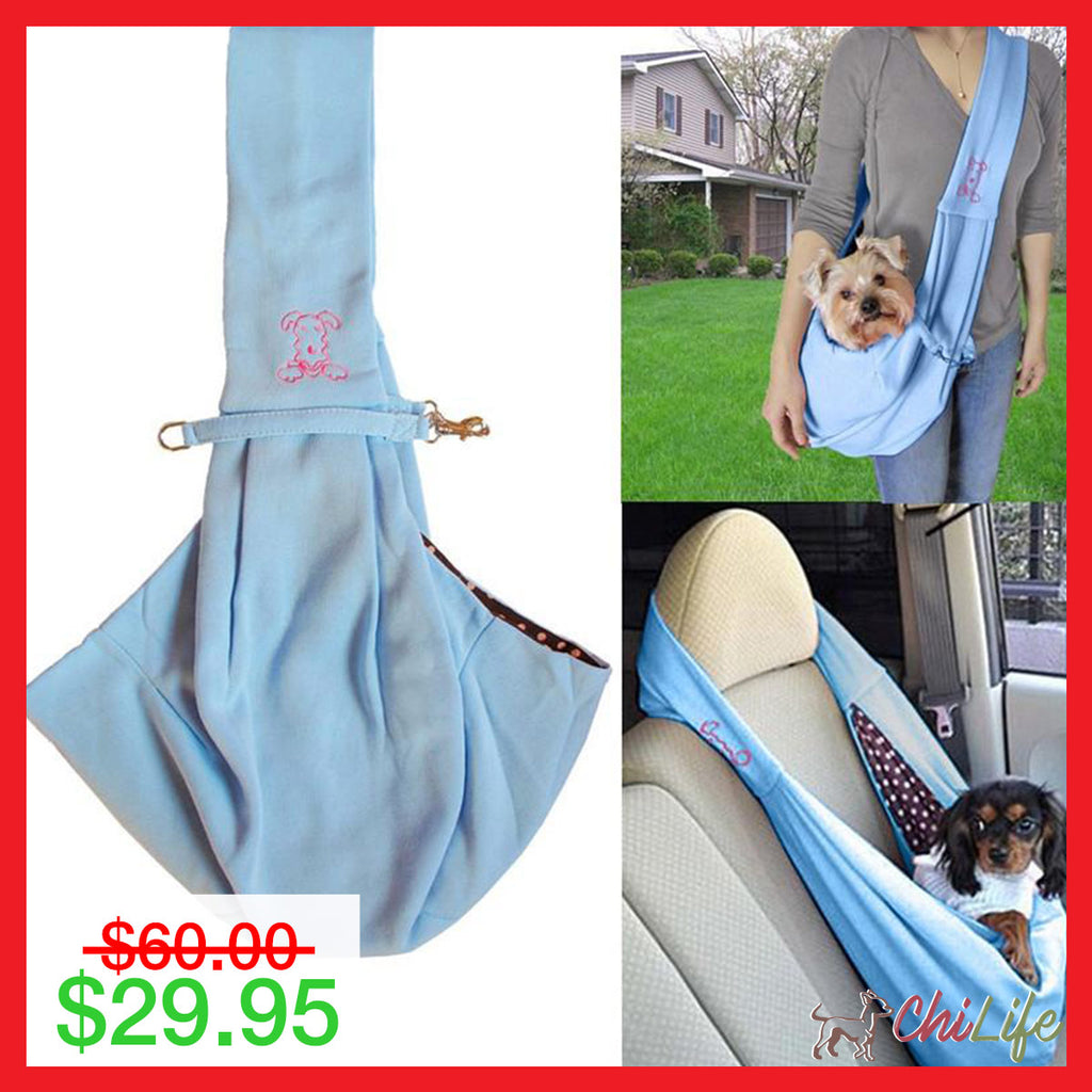 NEW PupSling™ Hands-Free Sling Carrier for Small Dogs