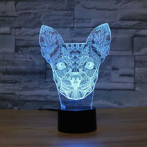 Chihuahua 3D LED Light