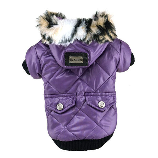Premium Winter Jacket for Dogs w/ Pockets & Faux Fur Hoodie - NEW