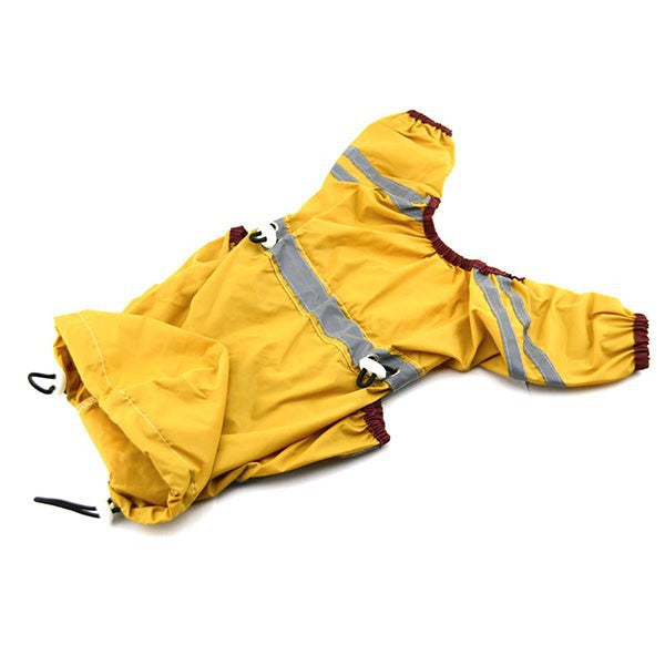Waterproof Raincoat Jacket w/ Hood for Dogs