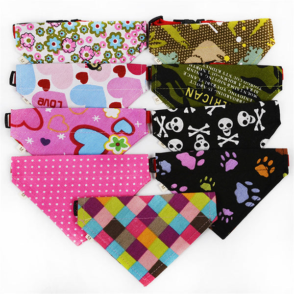 NEW! - Collar With Bandana , 9 Colors!