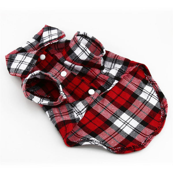 Summer Plaid Shirt for Small Dogs - NEW!