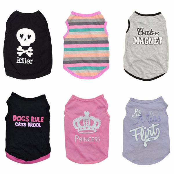 Dog Shirt Vests in Various Colors - NEW!