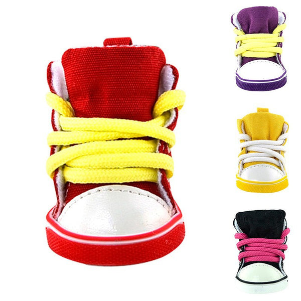 Dog Shoes With Anti-Slip Rubber Soles