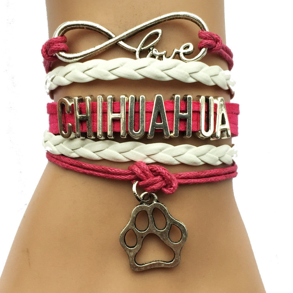 Pink Chihuahua Infinity Love Bracelet