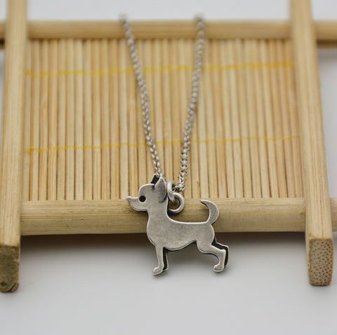 Chihuahua Vintage Chain Necklace