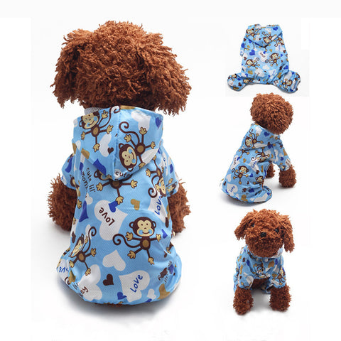 LiL Monkey Waterproof Raincoat For Dogs - NEW