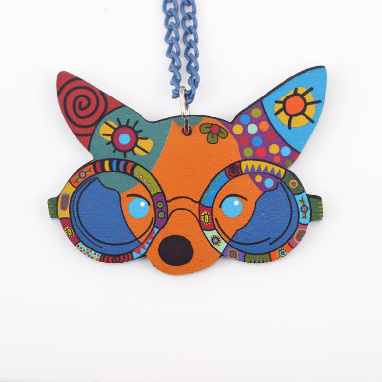 Acrylic Chihuahua Necklace - NEW!