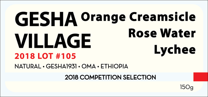 COMPETITION SELECTION: GESHA VILLAGE 2018 LOT #105 150g
