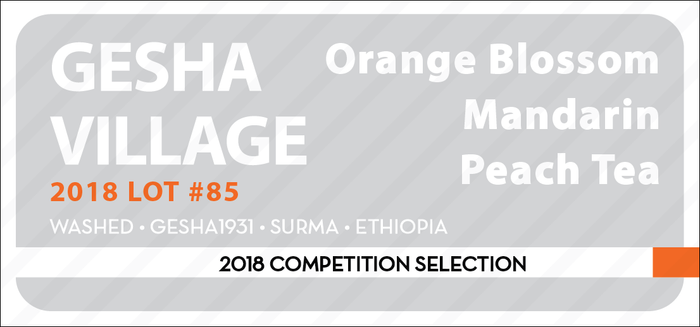 COMPETITION SELECTION: GESHA VILLAGE 2018 LOT #85 150g