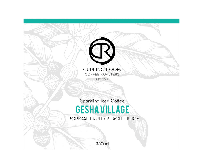 SPARKLING CANNED COFFEE: GESHA VILLAGE 2019 LOT #86 330ml