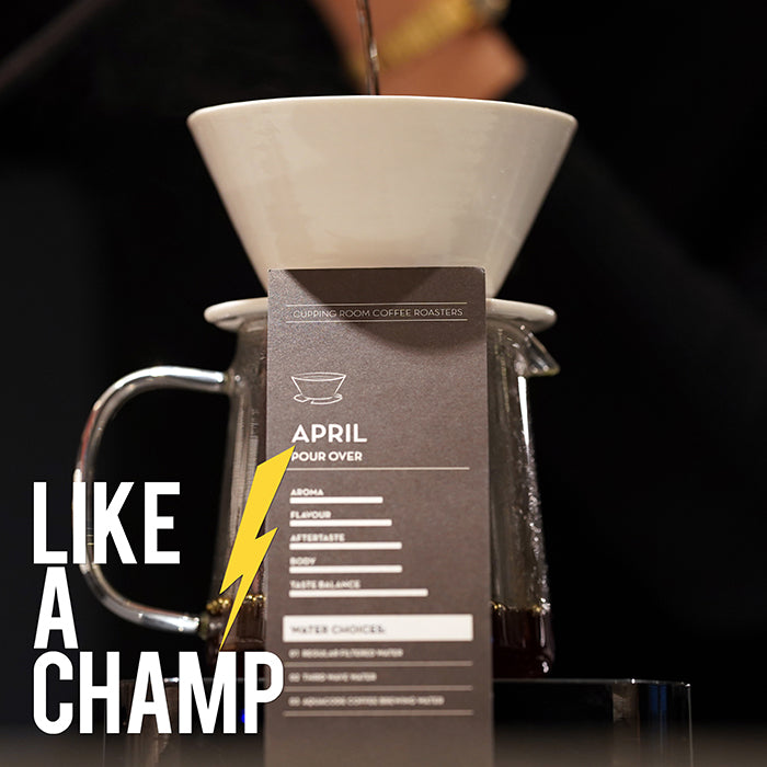 COFFEE COURSE <BR>BREW LIKE A CHAMP