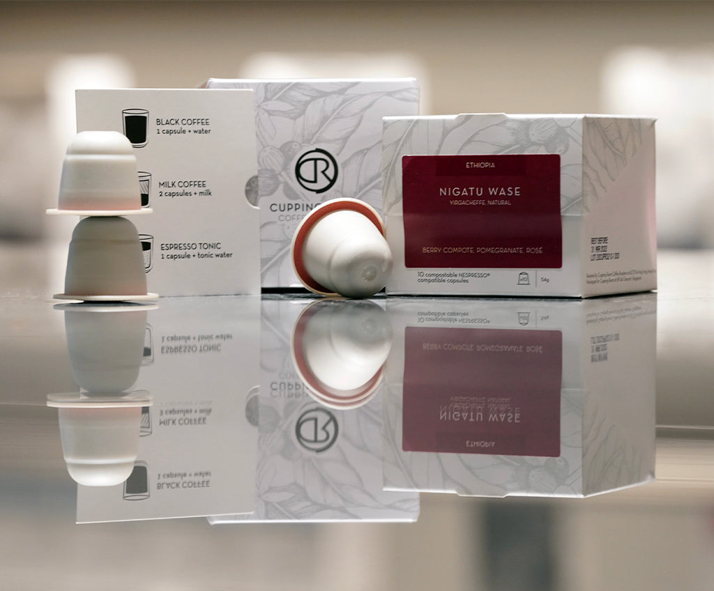 COMPOSTABLE CAPSULES BOX<br>NESPRESSO® SYSTEM COMPATIBLE