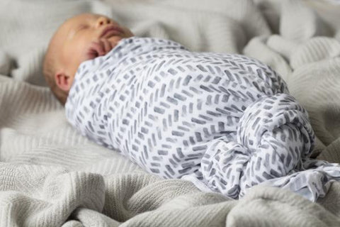 Herringbone Grey - Swaddle Blanket