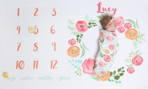 Floral Field - Personalized Monthly Memory Blanket