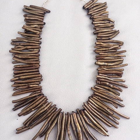 Gold Filled Necklace Golden Coral-Eleven LLC