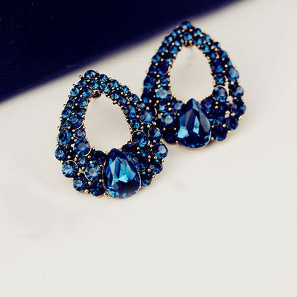 Sapphire Blue Crystal Earrings