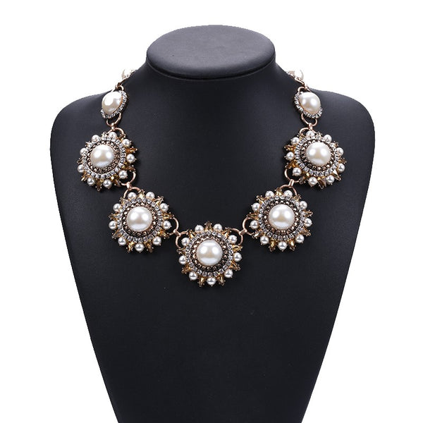 Meghan Steel Statement Necklace