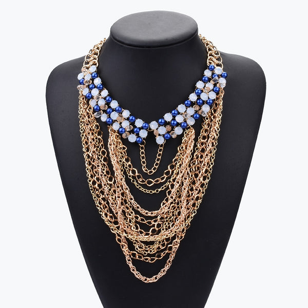 Grace Grey Statement Necklace