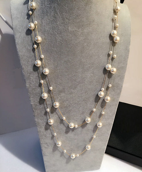 Double Layered Pearl Necklace