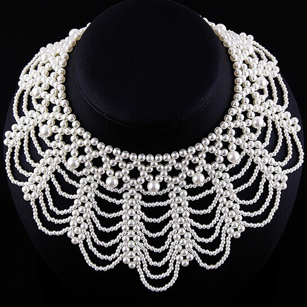 Webbed Pearl Necklace