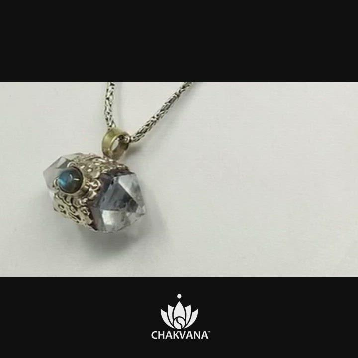 Video of Clear Quartz with Labradorite Necklace