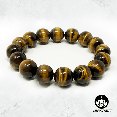 Tiger's Eye - 12mm Gemstone Bead Bracelet – Chakvana.com