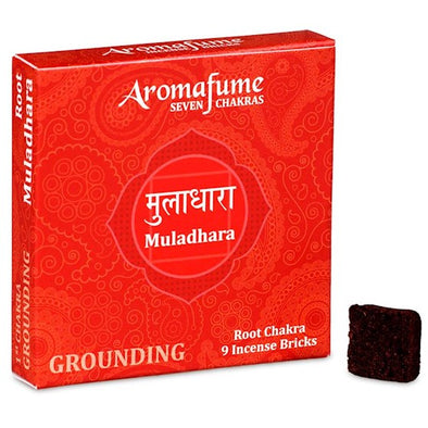 Aromafume Seven Chakras - Muladhara - Grounding - Root Chakra - 9 Incense Bricks