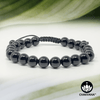 Black Onyx - 8mm Adjustable Macrame Gemstone Bead Bracelet – Chakvana.com