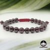 Garnet - 8mm Adjustable Macrame Gemstone Bead Bracelet – Chakvana.com