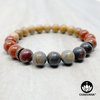 Picasso Jasper, Red Jasper and Sandalwood - 8mm Gemstone & Wood Bead Bracelet – Chakvana.com