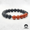 Red Jasper & Black Lava Stone - 8mm Gemstone Bead Bracelet – Chakvana.com