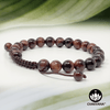 Red Tiger's Eye - 8mm Adjustable Macrame Gemstone Bead Bracelet – Chakvana.com