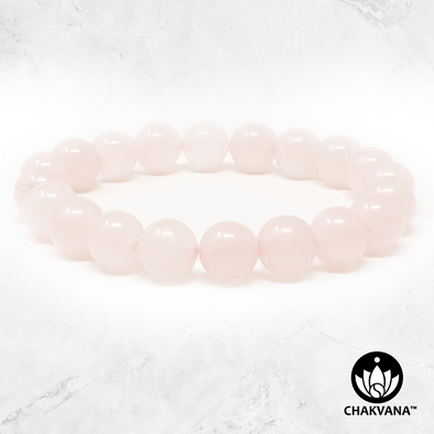 Rose Quartz - 8mm Gemstone Bead Bracelet – Chakvana.com