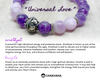 """Universal Love"" - Kunzite & Faceted Amethyst - 8mm Gemstone Bead Bracelet with Bali Bead – Chakvana.com"