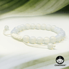 White Opalite - 8mm Adjustable Macrame Bead Bracelet – Chakvana.com