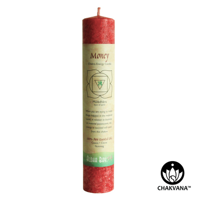 Aloha Bay Root Chakra Energy Pillar Candle – Root Chakra - Muladhara - Money. Available at CHAKVANA.COM