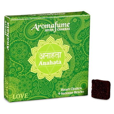 Aromafume Seven Chakras - Anahata - Love - Heart Chakra - 9 Incense Bricks