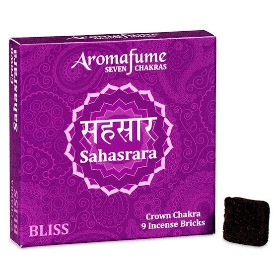 Aromafume Seven Chakras - Sahasrara - Bliss - Crown Chakra - 9 Incense Bricks
