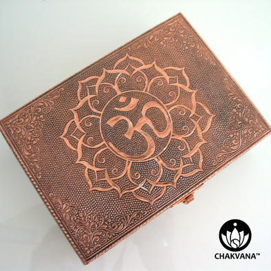 Copper Storage Box - Om Lotus Symbol