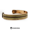 Handcrafted Copper Bracelet with Brass & Magnets (Style 1) – Chakvana.com