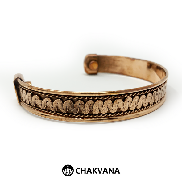 Handcrafted Copper Bracelet with Brass & Magnets (Style 3) – Chakvana.com