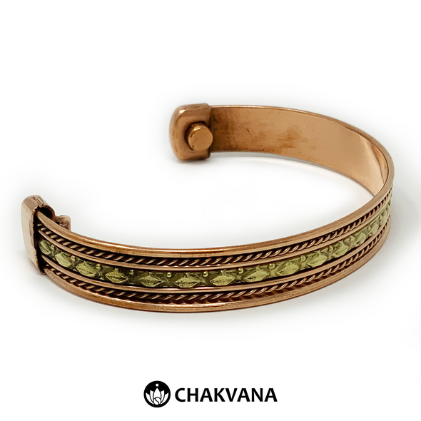 Handcrafted Copper Bracelet with Brass & Magnets (Style 4) – Chakvana.com
