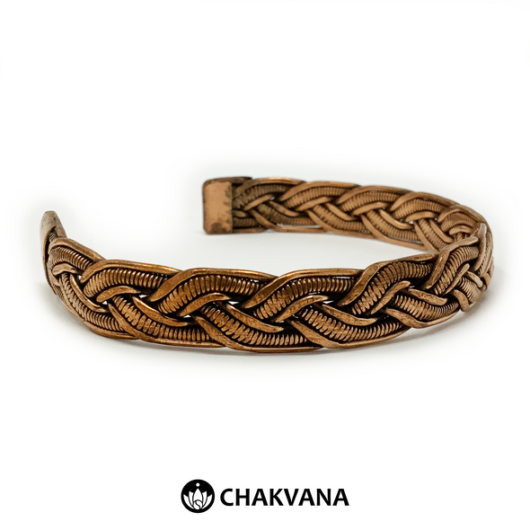 Handcrafted Braided Copper Bracelet  (Style 5)