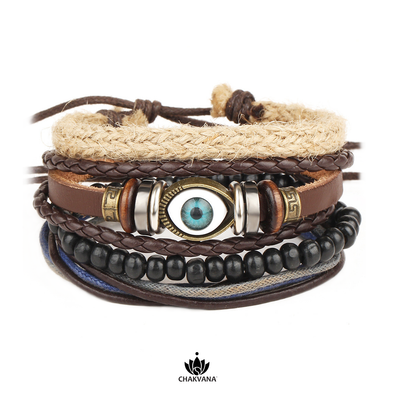 Evil Eye Good Luck Bracelet Set
